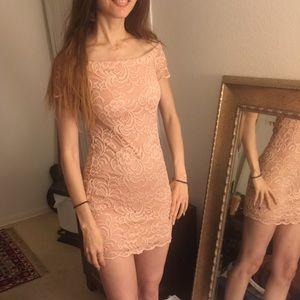 Lace Peachy Mini Dress